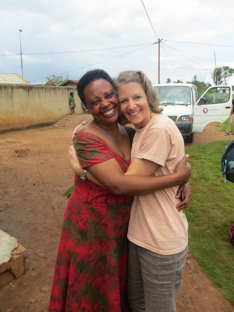 It's amazing to meet the people who care for our sponsored kids. This is Violet's auntie.