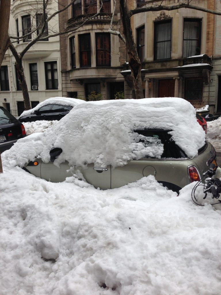New Yorkers may find this sight ordinary, but this Texan was astonished. It's buried!