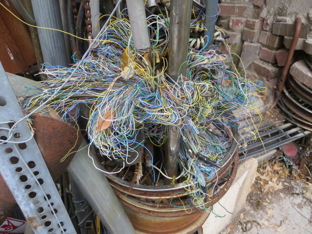 A colorful nest of wires